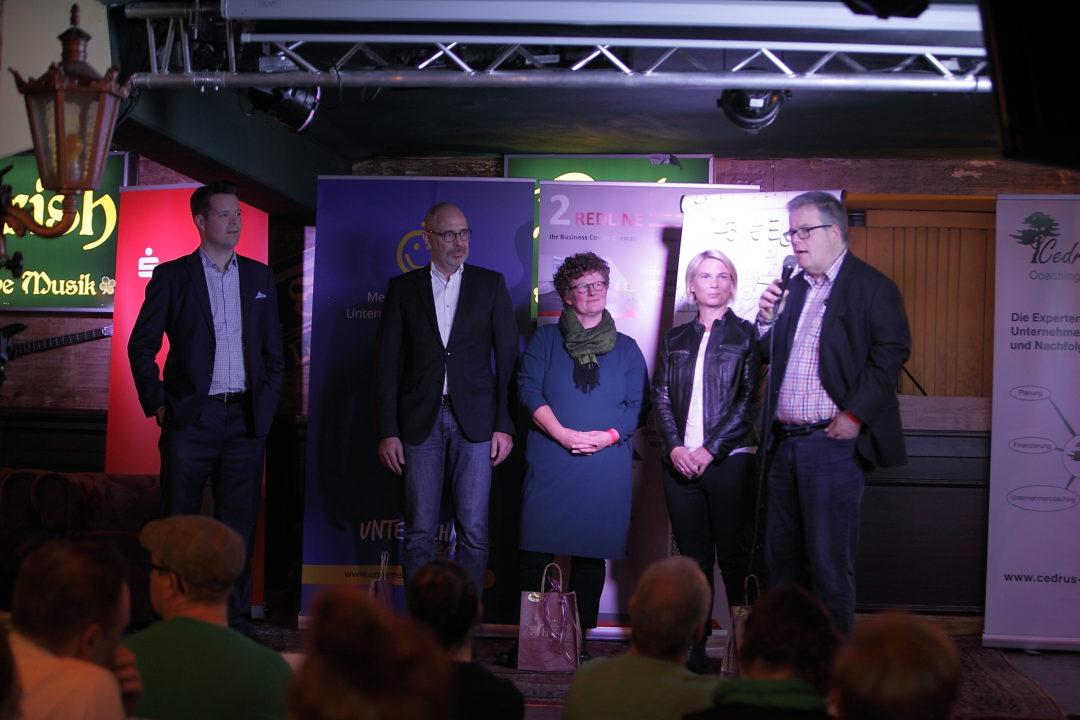 Sprecher und Moderatoren auf der FUN 1; Bilder Sarah Mack